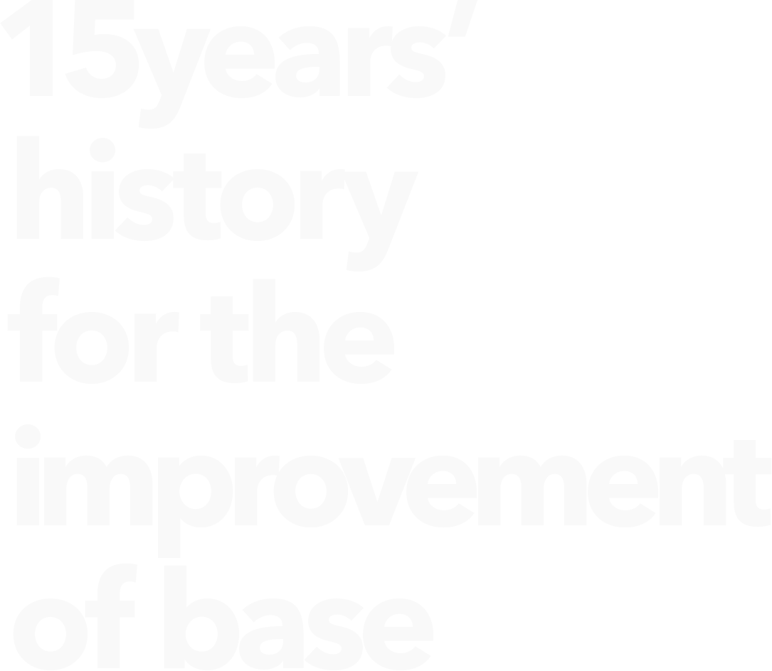 15years history for the improvement of base